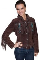 Scully Western Jacket Womens Leather Fringe XXL Choco Brown L152