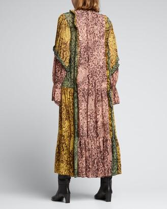 Alexis Annibelis Ruffled Printed Maxi Dress