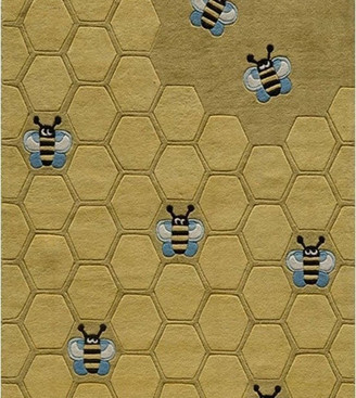 Momeni Lil Mo Whimsy Polyester, Hand-Tufted Rug, Honey Comb Gold, 8'x10'