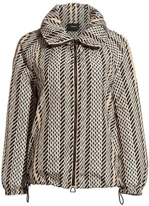 Akris Veronique Tweed Anorak Jacket