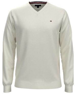 Tommy Hilfiger Men's Big & Tall V-Neck Cotton Sweater