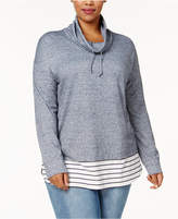 Style&Co. Style & Co Plus Size Cowl-Neck Layered-Look Top, Created for Macy's