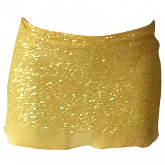 P.A.R.O.S.H. Yellow Silk Skirt for Women