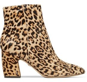 Sam Edelman Hilty Leopard-print Calf Hair Ankle Boots