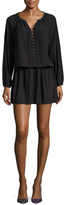 Ramy Brook Allie Lace Up Blouson Dress