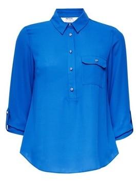 Dorothy Perkins Womens Dp Petite Cobalt Roll Sleeve Shirt