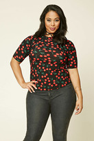 Forever 21 FOREVER 21+ Plus Size Cherry Print Top