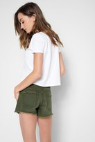 7 For All Mankind Cutt Off Short In Olive