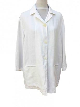 Krizia White Linen Jacket for Women Vintage