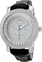 "JBW Men's JB-6211L-G ""Hendrix"" Stainless Steel Multi-Function Leather Diamond Watch"