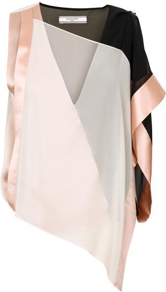 Preorder Bouchra Jarrar Rose Poudre Silk Georgette Blouse