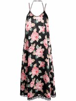 Thumbnail for your product : R 13 Floral Lace-Back Slip Dress