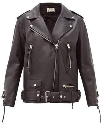 Acne Studios Lastrid Lace-up Leather Jacket - Womens - Black