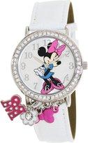 Disney Women's MIN031 White Polyurethane Quartz Watch with Dial