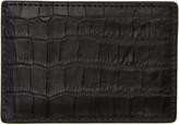 Alexander Wang Black Croc-Embossed Card Holder