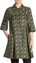 Erdem Women's Yuri Silk A-Line Coat