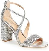 Badgley Mischka Cook Block Heel Glitter Sandal
