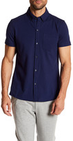 Kenneth Cole New York Woven Short Sleeve Polo