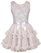 Girl's Popatu Lace & Tulle Sleeveless Dress