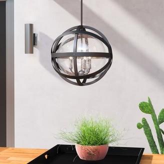 """Trent Austin Designâ® Stefanie English Bronze 3 -Bulb 16.57"""" H Outdoor Pendant Trent Austin DesignA"""