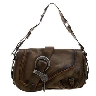 Christian Dior Gaucho Brown Leather Handbags