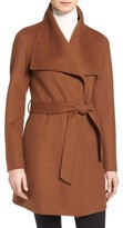 Tahari Women's 'Ella' Belted Double Face Wool Blend Wrap Coat
