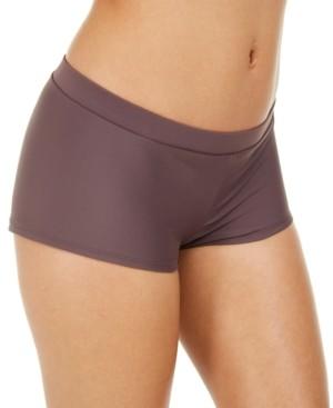 Macy's Hula Honey Juniors' Solid Boy Short Bottoms, Created For Women's Swimsuit
