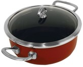 Chantal Copper Fusion 4 Quart Risotto Pan with Lid - Red
