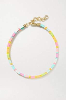 Roxanne Assoulin Neon Lite Enamel And Gold-tone Choker - Pink
