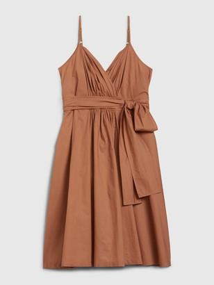 Gap Pleated Wrap Cami Dress