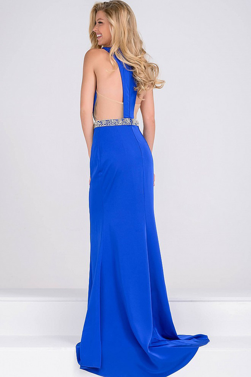 Jovani Jersey High Neck Fitted Dress JVN48492
