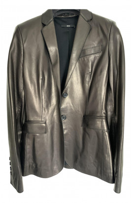 HUGO BOSS Brown Leather Leather jackets