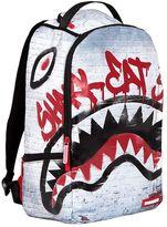 Sprayground Shark Eat Shark Printed Nylon Backpack