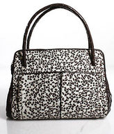Nancy Gonzalez Crocodile Pony Hair Trim Tote Handbag