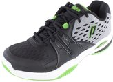 Prince Warrior Clay Court Men's Tennis Shoes Grey/Black/Green (8.5)