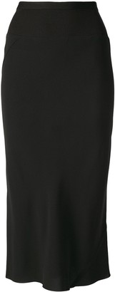 Rick Owens Ribbed Midi Pencil Skirt