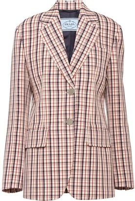 Prada micro-check blazer