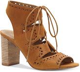 Lucky Brand Women's Tafia Block-Heel Lace-Up Sandals