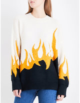 Wildfox Couture Fired Up knitted jumper
