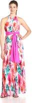 Eliza J Women's Pleated Halter Maxi Dress