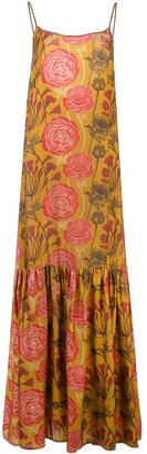 UMA WANG Floral Print Maxi Dress