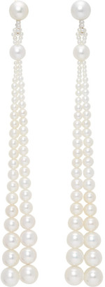 Sophie Bille Brahe White Pearl Peggy Opera Earrings