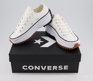 Converse Run Star Hike Ox Trainers White Black Gum