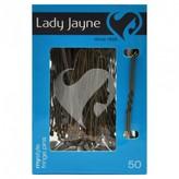 Lady Jayne Fringe Pins, 5cm, Brown 50 pack