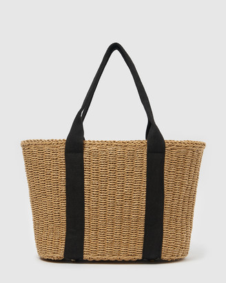 Izoa - Women's Tote Bags - Jules Woven Tote Bag - Size One Size at The Iconic