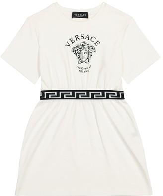 Versace Kids Medusa cotton dress