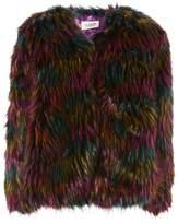 Club L **Black Faux Fur Jacket