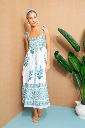 Juliet Dunn White Poppy Tie Shoulder Dress