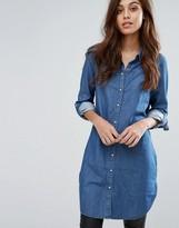 Vero Moda Longline Shirt With 3/4 Sleeves
