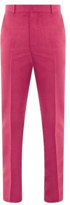 Alexander McQueen Wool-blend Slim-fit Trousers - Pink